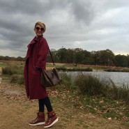 burgundy outfit for an afternoon in the park! Wearing myhellip