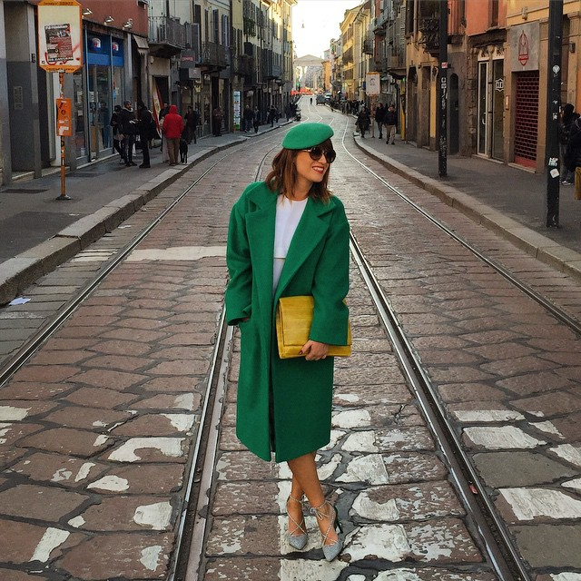 Walking on the Milan's streets today after Just Cavalli show!…