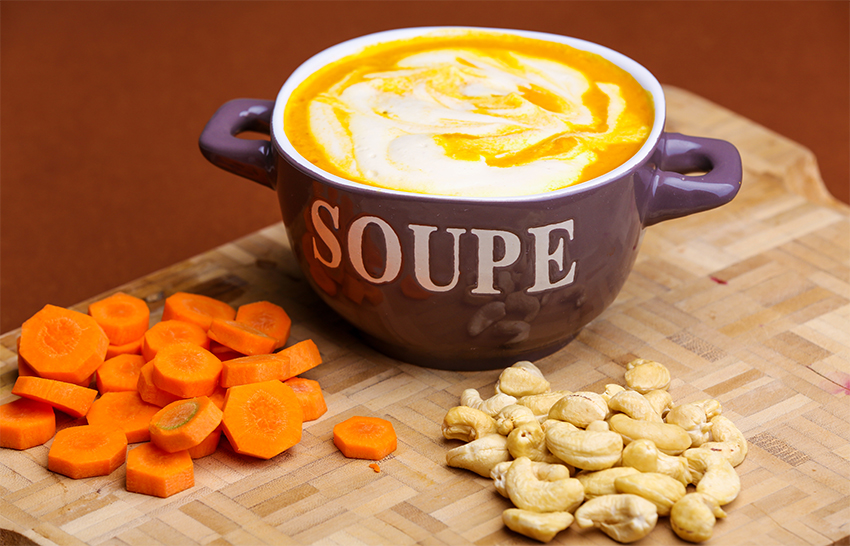 Carrots cream soup