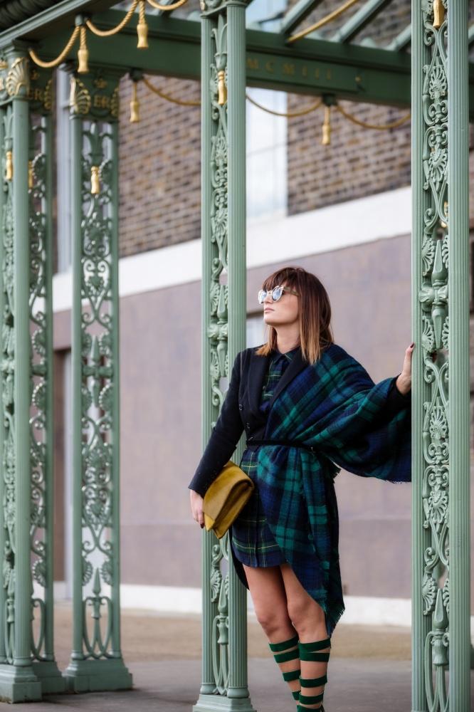 London Fashion Week, Tartan, Scottish, Carmen Negoita