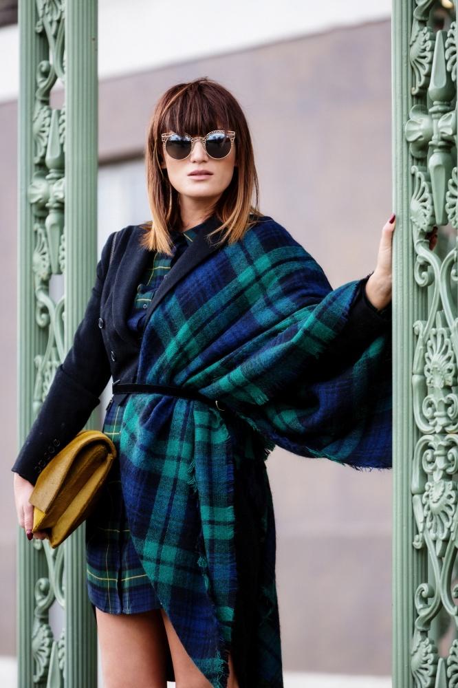 London Fashion Week, Tartan, Scottish, Carmen Negoita1