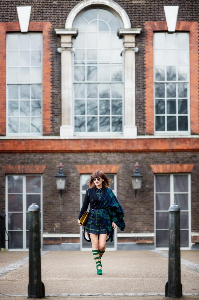London Fashion Week, Tartan, Scottish, Carmen Negoita3