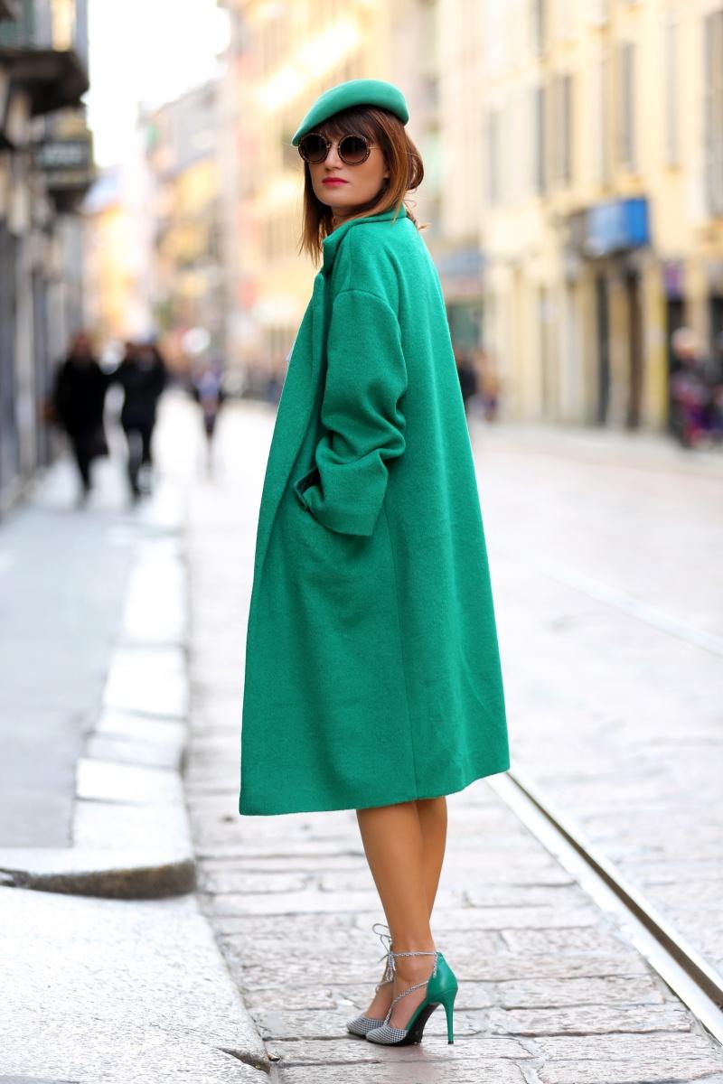 Green coat, Milan Fashion Week, Carmen Negoita, (7)