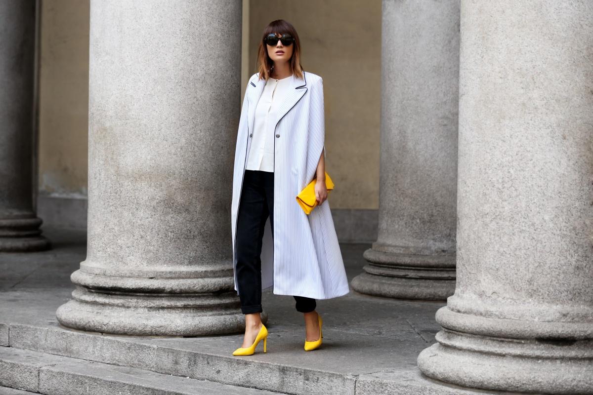 Yellow stilettos shoes