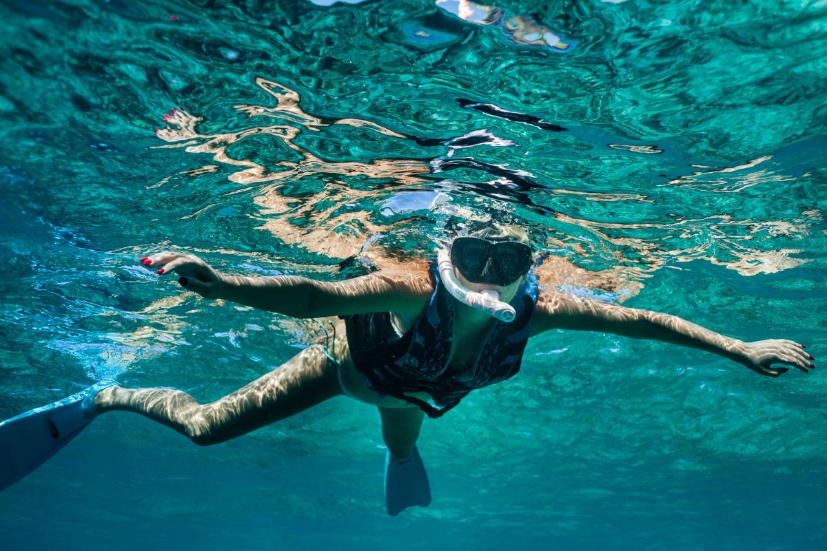 Snorkeling in German Channel, Palau Island