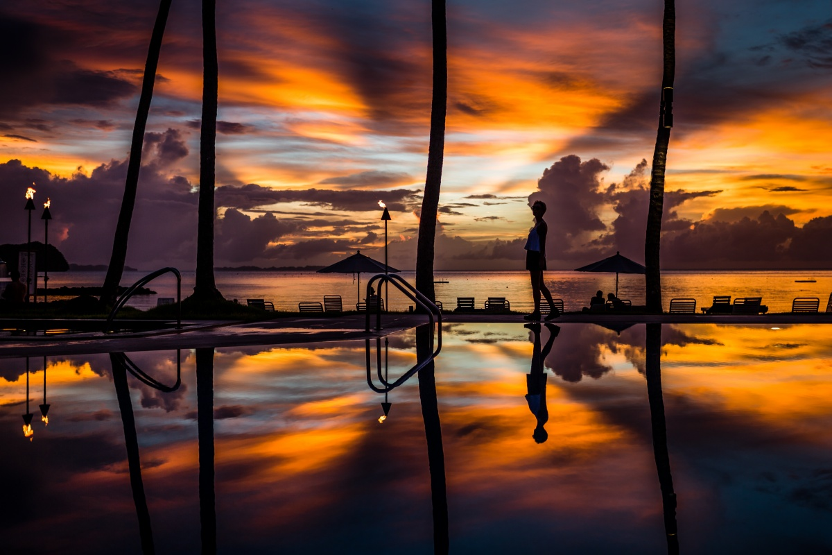 Palau Pacific Resort sunset Palau Travel