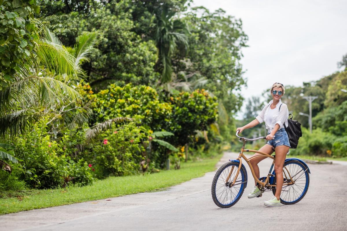 Biking in Peleliu Island Palau Travel